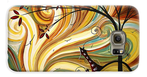 Landscape Galaxy S6 Case - Out West Original Madart Painting by Megan Duncanson