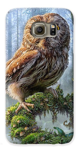 Owl Perch Galaxy S6 Case by Phil Jaeger