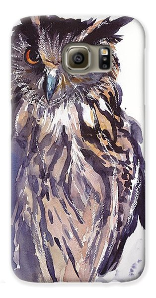 Pigeon Galaxy S6 Case - Owl Watercolor by Suzann's Art