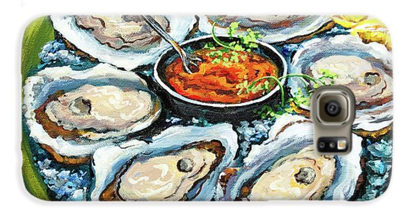 Food And Beverage Galaxy S6 Case - Oysters On The Half Shell by Dianne Parks