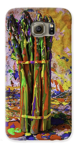 Painted Asparagus Galaxy S6 Case by Garry Gay