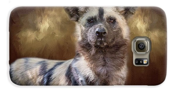 Painted Dog Portrait II Galaxy S6 Case