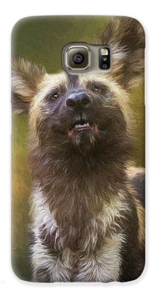 Painted Dog Portrait Galaxy S6 Case