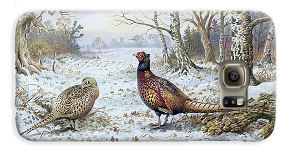 Pair Of Pheasants With A Wren Galaxy S6 Case