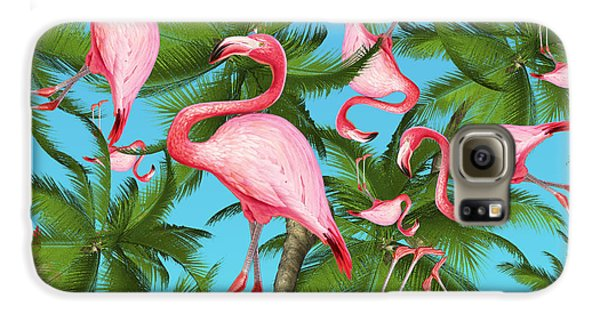 Palm Tree Galaxy S6 Case by Mark Ashkenazi