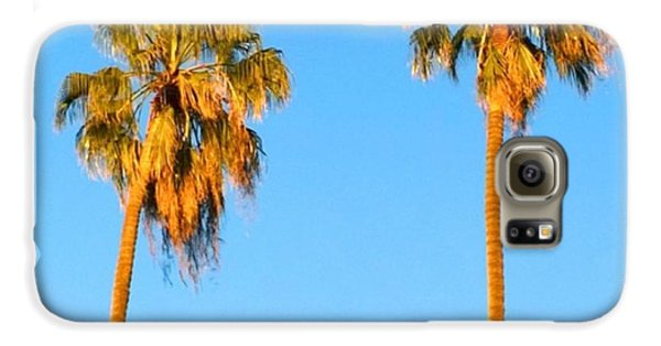 Summer Galaxy S6 Case - #palm #trees At Sunset. #california by Shari Warren