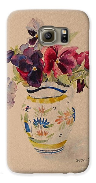 Pansies In A Quimper Pot Galaxy S6 Case