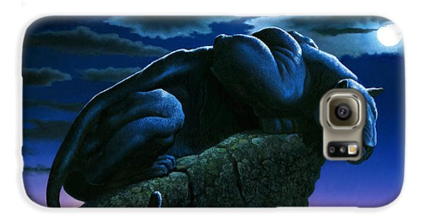 Panther On Rock Galaxy S6 Case by MGL Studio - Chris Hiett