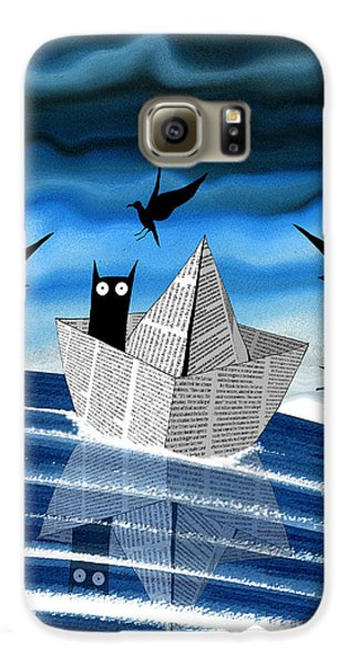 Seagull Galaxy S6 Case - Paper Boat  by Andrew Hitchen