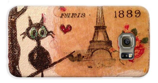 Paris Cat  Galaxy S6 Case by Roxy Rich