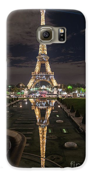 Paris Eiffel Tower Dazzling At Night Galaxy S6 Case by Mike Reid