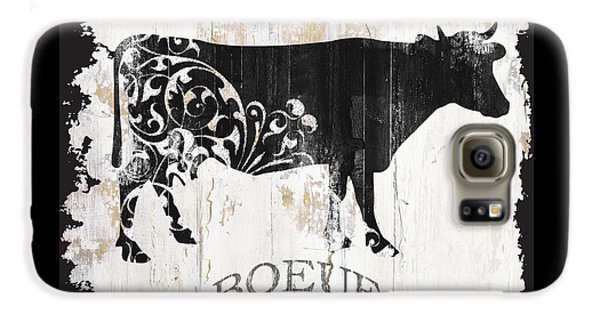 Cow Galaxy S6 Case - Paris Farm Sign Cow by Mindy Sommers