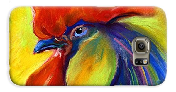 Galaxy S6 Case - Pastel Rooster By Svetlana Novikova ( by Svetlana Novikova