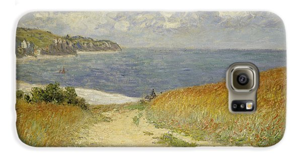 Path In The Wheat At Pourville Galaxy S6 Case by Claude Monet