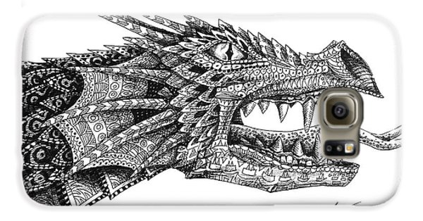 Galaxy S6 Case featuring the drawing Pattern Design Dragon by Aaron Spong