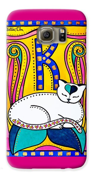 Peace And Love - Cat Art By Dora Hathazi Mendes Galaxy S6 Case by Dora Hathazi Mendes