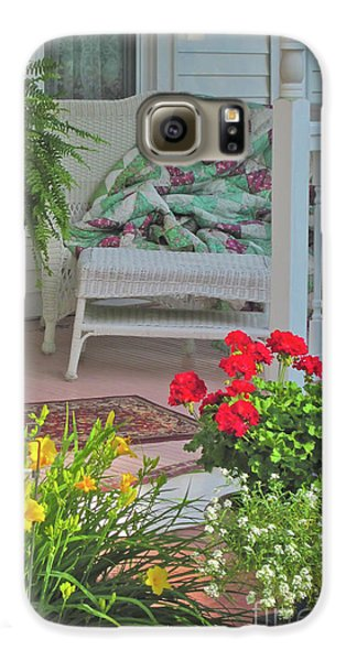 Galaxy S6 Case featuring the photograph Peaceful Porch In A Small Town by Nancy Lee Moran