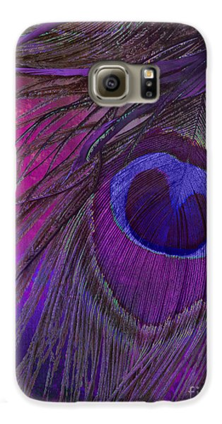 Peacock Candy Purple  Galaxy S6 Case by Mindy Sommers