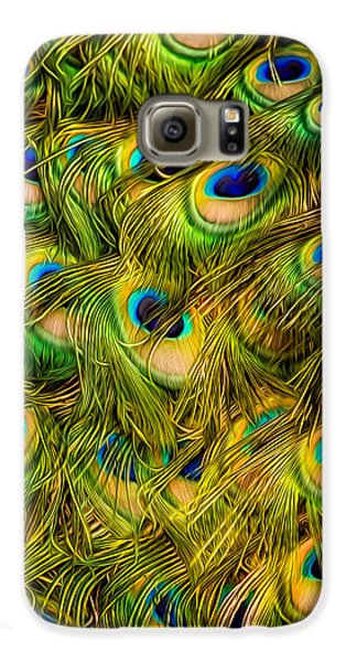 Galaxy S6 Case featuring the photograph Peacock Tails by Rikk Flohr