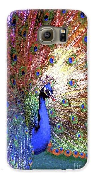 Peacock Wonder, Colorful Art Galaxy S6 Case