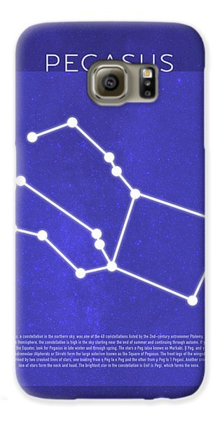 Pegasus Galaxy S6 Case - Pegasus The Constellations Minimalist Series 11 by Design Turnpike