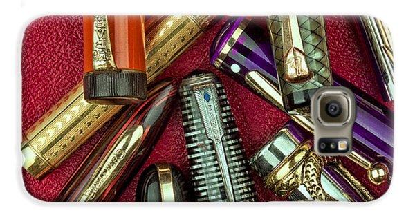 Swan Galaxy S6 Case - Pen Caps Still Life by Tom Mc Nemar