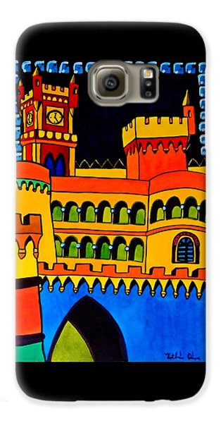 Galaxy S6 Case featuring the painting Pena Palace Portugal by Dora Hathazi Mendes