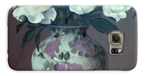 One Pink And Four White Peonies,lavender Cloth  Galaxy S6 Case