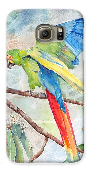 Macaw Galaxy S6 Case - Perfect Landing by Arline Wagner