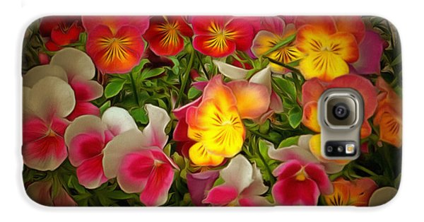 Radiance Pansies Galaxy S6 Case