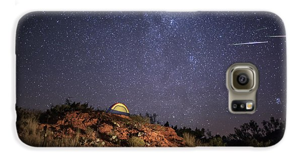 Perseids Over Caprock Canyons Galaxy S6 Case