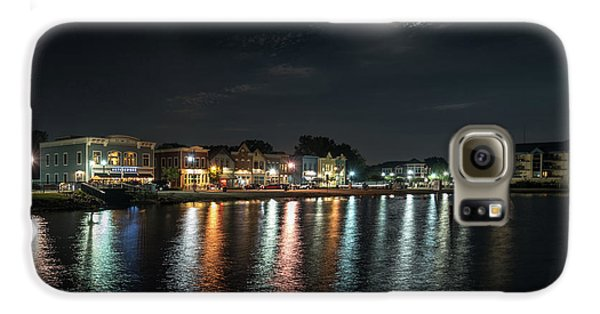 Pewaukee At Night Galaxy S6 Case by Randy Scherkenbach
