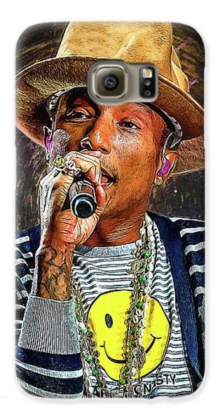 Jay Z Galaxy S6 Case - Pharrell Williams by Semih Yurdabak