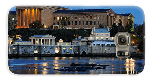 Philadelphia Art Museum And Fairmount Water Works Galaxy S6 Case by Gary Whitton