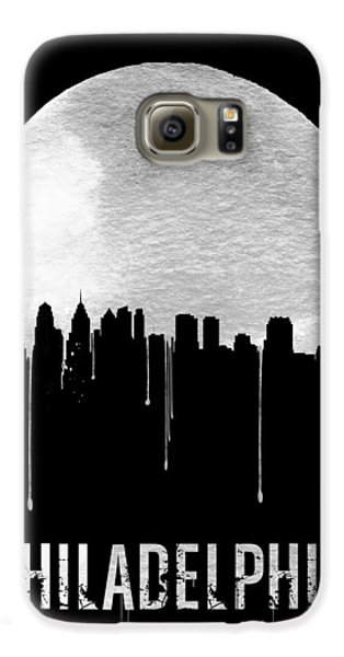 Philadelphia Skyline Black Galaxy S6 Case by Naxart Studio