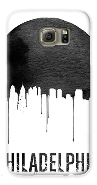 Philadelphia Skyline White Galaxy S6 Case by Naxart Studio