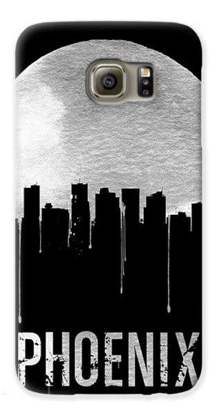 Phoenix Skyline Black Galaxy S6 Case by Naxart Studio