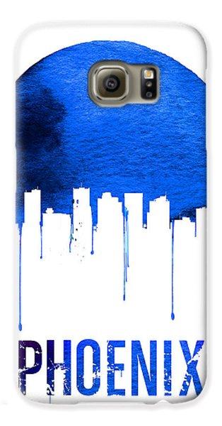 Phoenix Skyline Blue Galaxy S6 Case by Naxart Studio