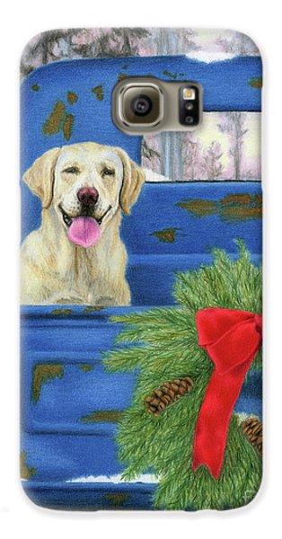 Truck Galaxy S6 Case - Pick-en Up The Christmas Tree by Sarah Batalka