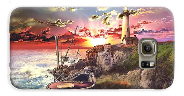 Pigeon Galaxy S6 Case - Pigeon Point Lighthouse by Bekim Art