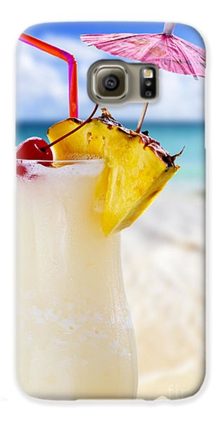 Pina Colada Cocktail On The Beach Galaxy S6 Case