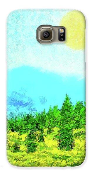Pine Tree Mountain Blue - Shasta California Galaxy S6 Case
