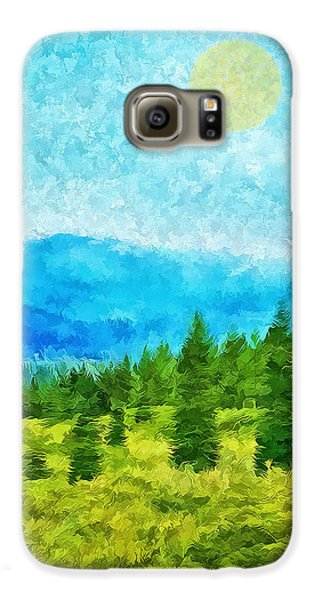 Pine Tree Mountain Blue - Shasta California Galaxy S6 Case by Joel Bruce Wallach