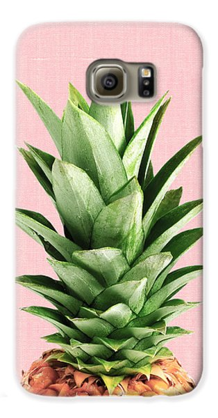 Pineapple And Pink Galaxy S6 Case by Vitor Costa