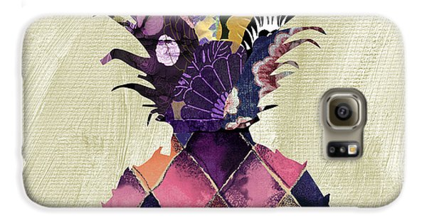 Pineapple Brocade II Galaxy S6 Case by Mindy Sommers
