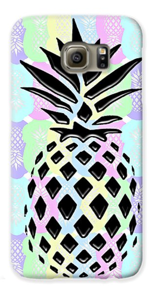 Pineapple Collage Galaxy S6 Case by Liesl Marelli