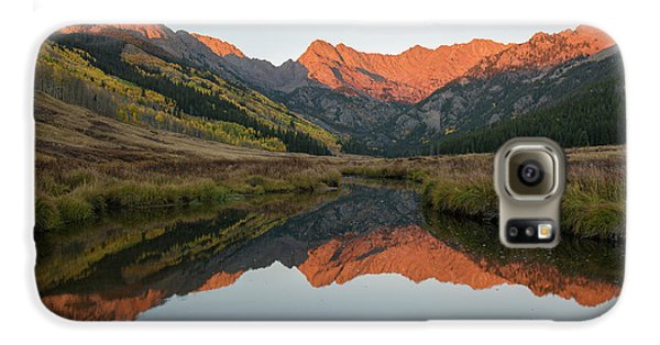 Galaxy S6 Case featuring the photograph Piney River Autumn Sunrise by Aaron Spong
