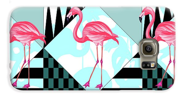 Ping Flamingo Galaxy S6 Case by Mark Ashkenazi