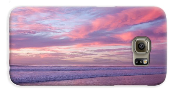 Pink And Lavender Sunset Galaxy S6 Case