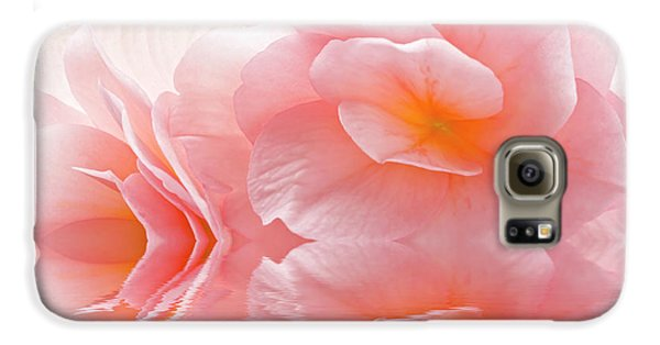 Pink Begonia Reflection 1 Macro Galaxy S6 Case